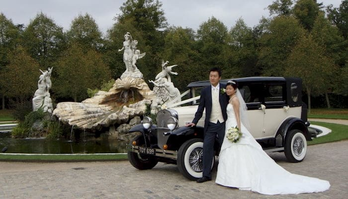 Badsworth wedding car at Cliveden Nr Maidenhead