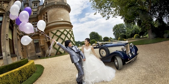 Jaguar drophead at waddesdon Manor in Buckinghamshire
